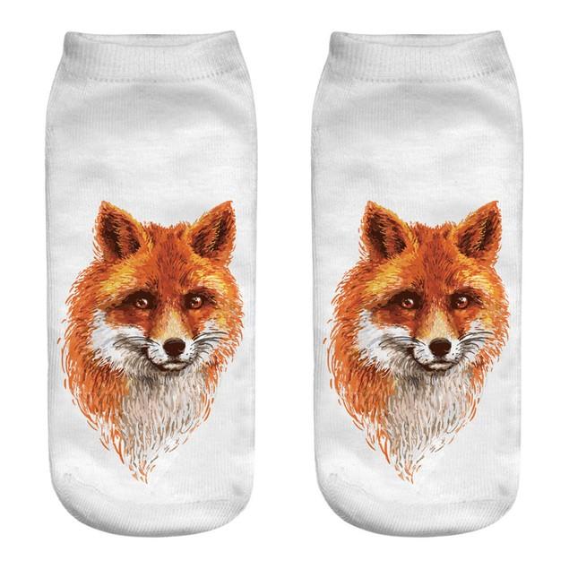 Casual Cotton Socks 3D Printing Medium Socks Cartoon Socks Sports Socks f