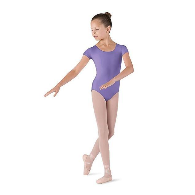 Bloch Girl's Short Sleeve Comfort Leotard SZ: 4-6 Purple