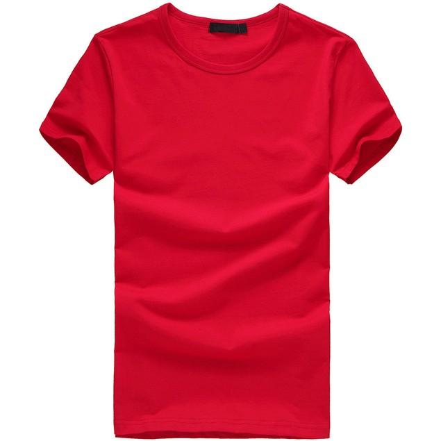 Men Boy Plus Size Solid Tees Short Sleeve Cotton T Shirt Blouse Tops