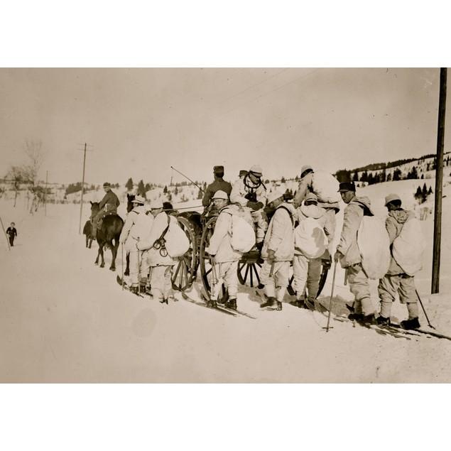Recruits of 1st Snowshoe Battalion, Munich Poster