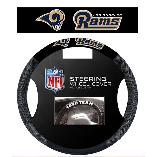 Los Angeles Rams Steering Wheel Cover NFL Football Team Logo Poly Mesh