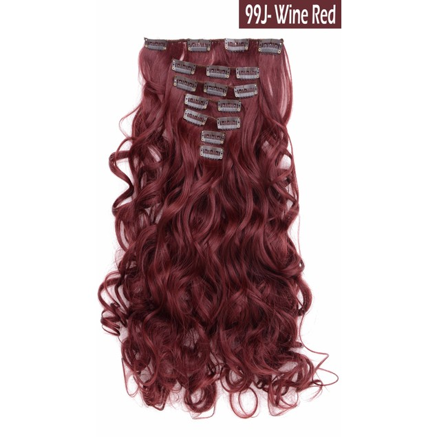 "7-Piece: 20"" Curly Clip in Hair Extensions"