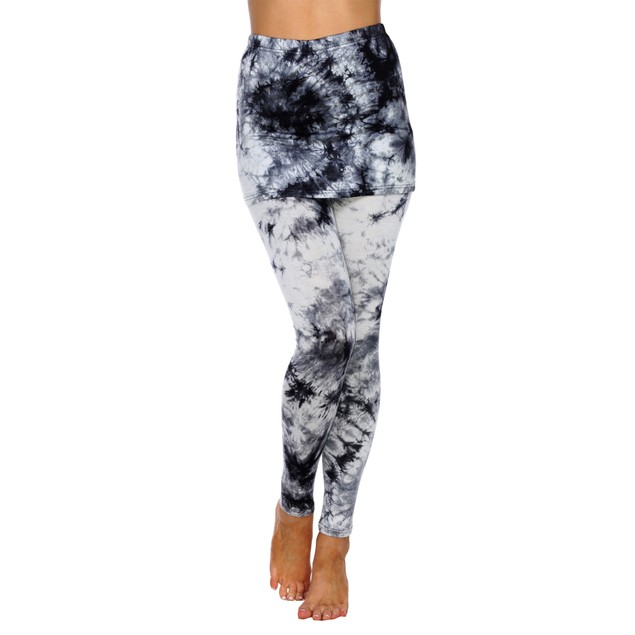 Tie Dye Skirted Leggings - 7 Colors