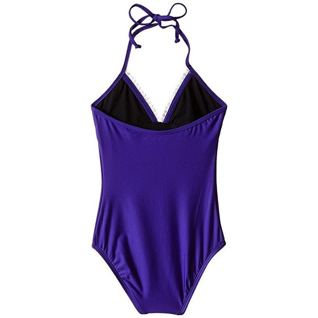 Ella Moss Girl Girl's Stella One-Piece (Big Kids) Purple Swimsuit SZ: