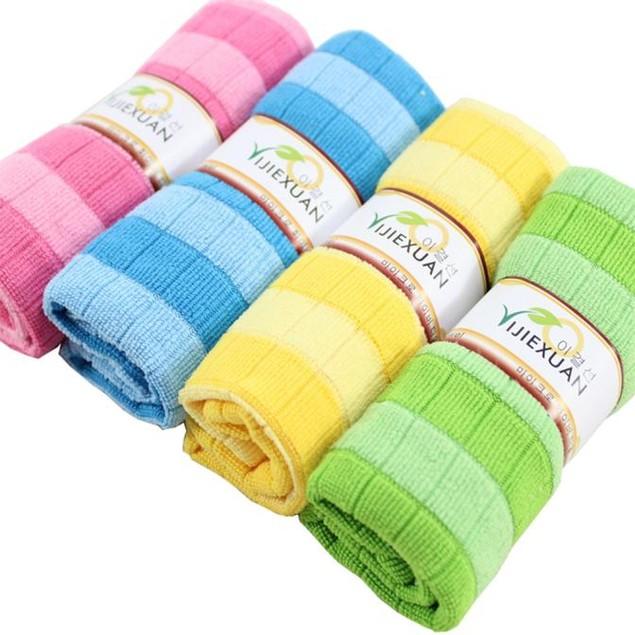 4-Pack Kitchen Towels - Random Colors