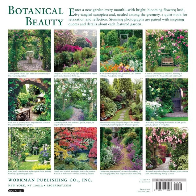 Secret Garden Wall Calendar, Gardens by Calendars