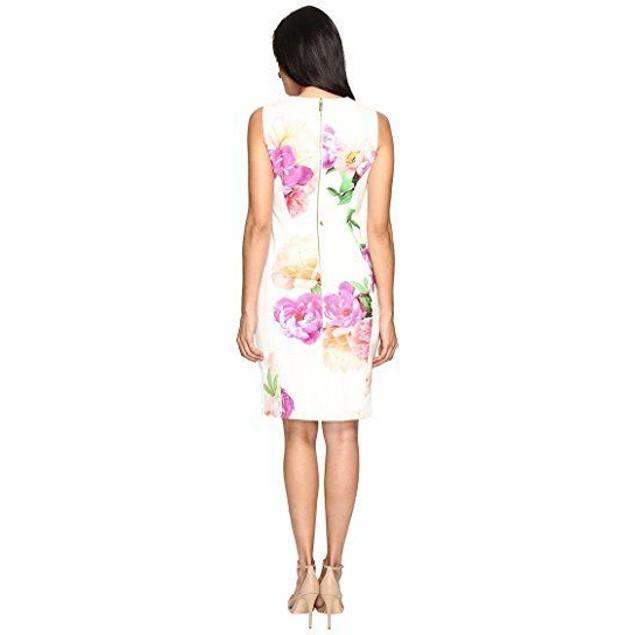 Calvin Klein Women's Round Neck Sleeveless Scuba Sheath Dress SZ 6
