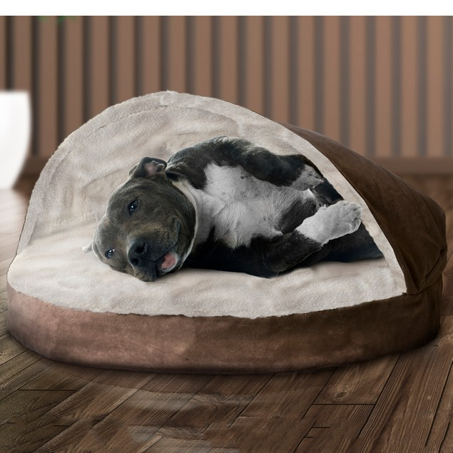 Round Faux Sheepskin Snuggery Pet Bed