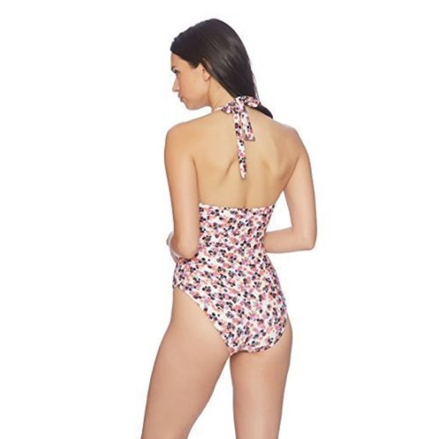 Splendid Itsy Ditsy Floret Plunge One Piece Swimsuit  SIZE SMALL