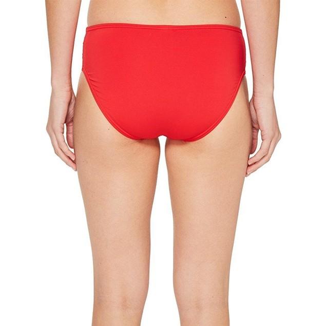 Tommy Bahama Women's Pearl High-Waist Side-Shirred Bikini Bottom Sz:L
