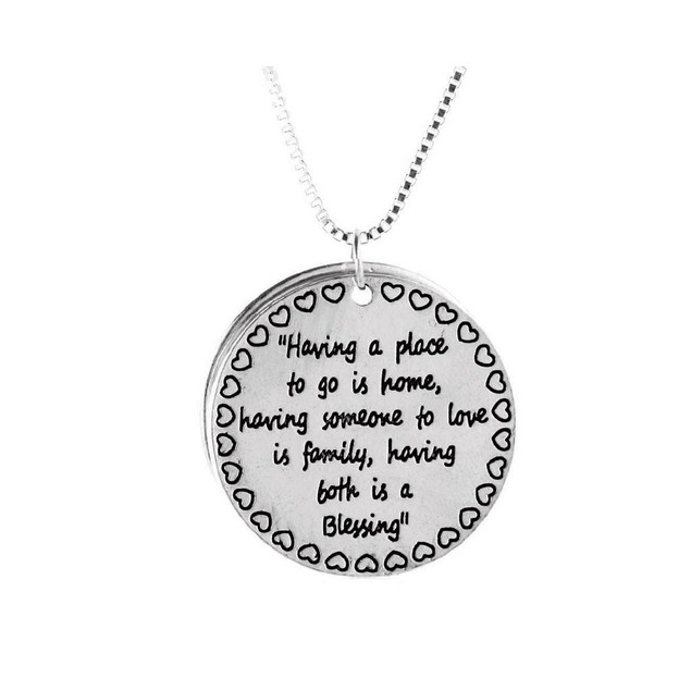 Novadab FAMILY BLESSING ENGRAVED NECKLACE