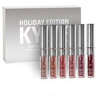 Kylie Cosmetics Set of 6 Liquid Lipsticks, Holiday Edition