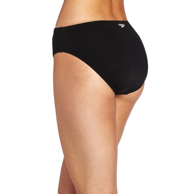 Speedo Women's Endurance High Waist Swimsuit Bottom, Black, SZ 14