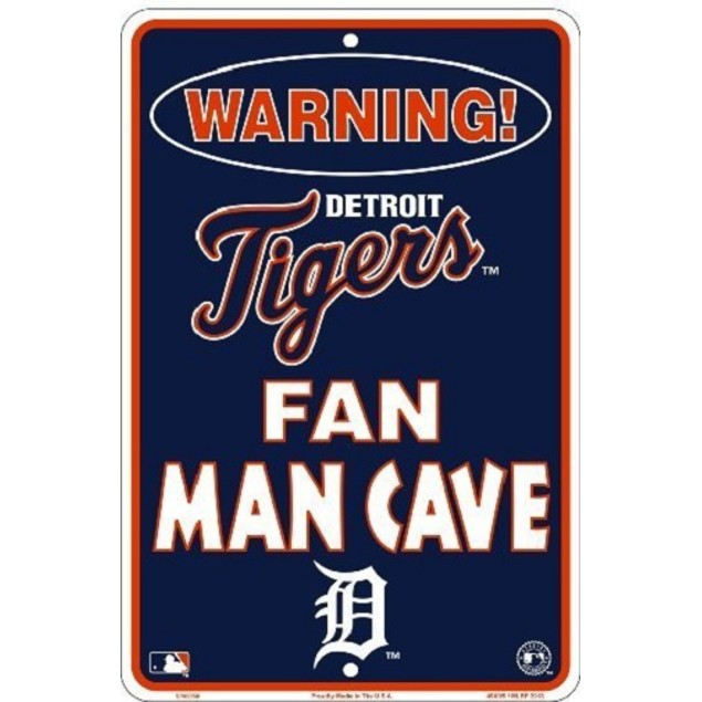 Detroit Tigers MLB Fan Man Cave Parking Sign