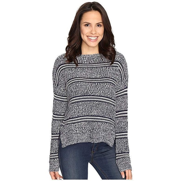 Brigitte Bailey Women's Marquis Striped Pullover Sweater Navy Combo Sw