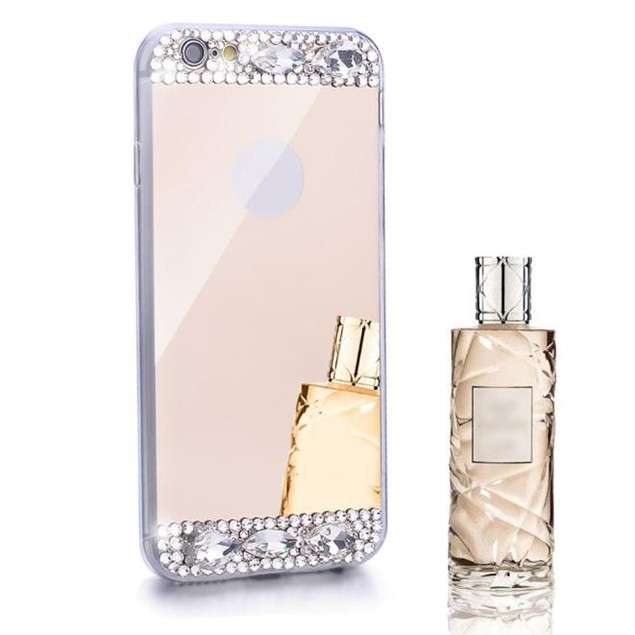 Bling Diamond Mirror Back TPU Soft Case Cover For iPhone 6/6S 4.7inch