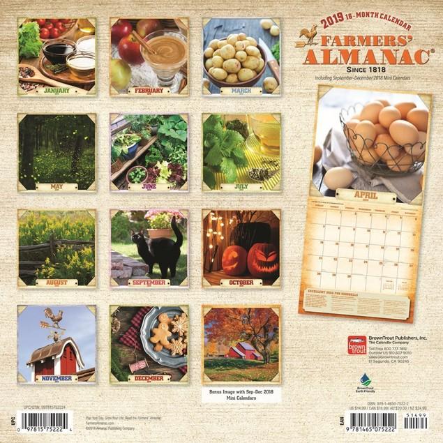 Farmers Alman Gardening  Wall Calendar, Gardens by Calendars