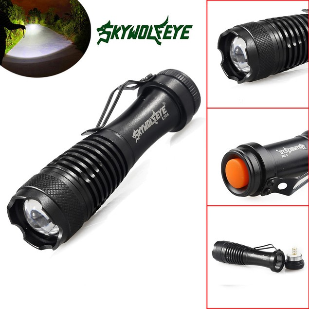 2000LM 3Mode ZOOM LED Super Bright Flashlight MINI Police Torch