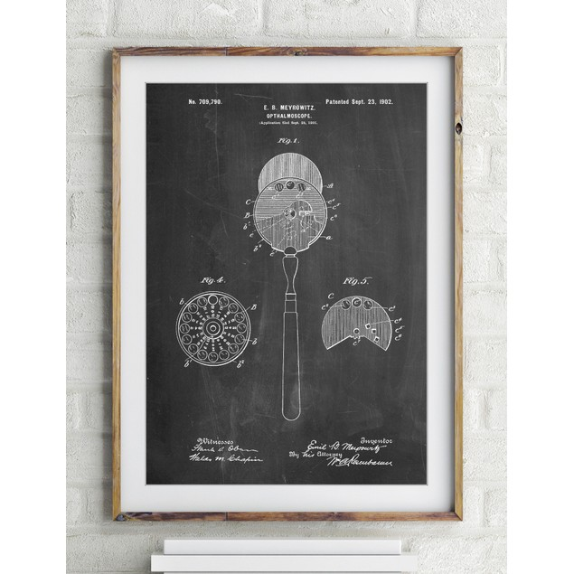 Ophthalmoscope Patent Poster