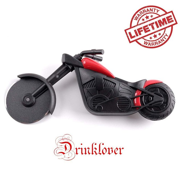 Motorcycle Pizza Cutter Wheel Chopper Slicer Stainless Steel