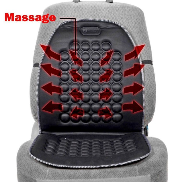 Zone Tech Magnetic Bubble Car Seat Cushion Back Massage Therapy Padded