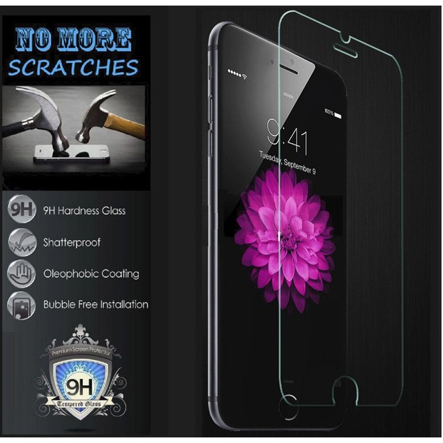 For iPhone 7 Clear Silicon Soft Cover + Tempered Glass Screen Protector