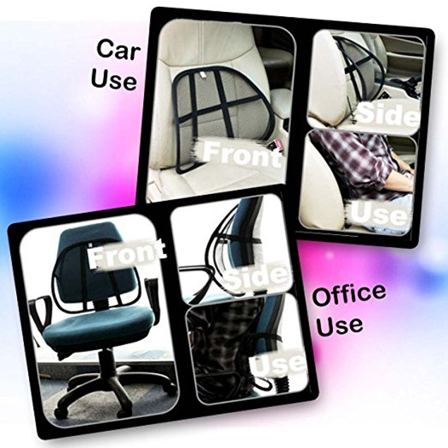 Zone Tech 10x Posture Mesh Office Chair & Car Seat Lumbar Back Support
