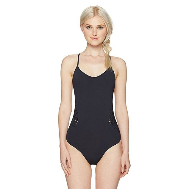 Billabong Women's Cut It Out One Piece Swimwear,Small,Black Sands SZ S