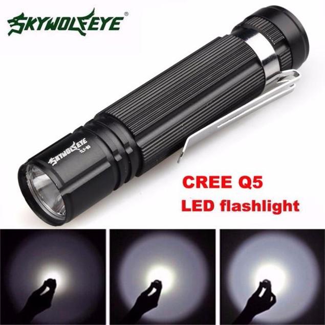 Q5 LED 1200lm Mini Flashlight Torch Light 14500/AA Lamp Waterproof