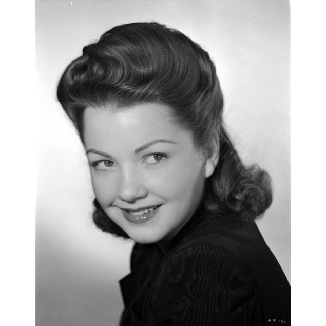 Anne Baxter smiling and posed Poster