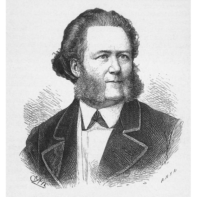Henrik Ibsen (1818-1906). /Nnorwegian Poet And Dramatist. Wood Engraving,/N