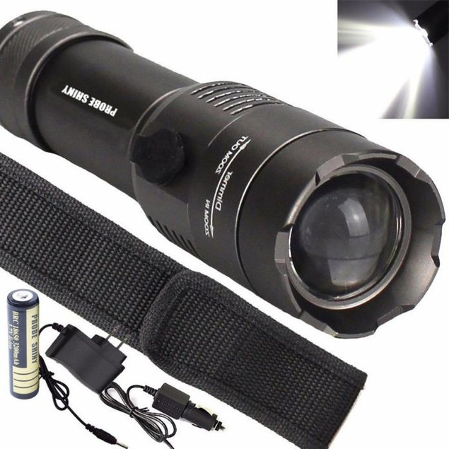 Tactical XML T6 LED Flashlight Torch Lamp + 18650 Battery + Charger