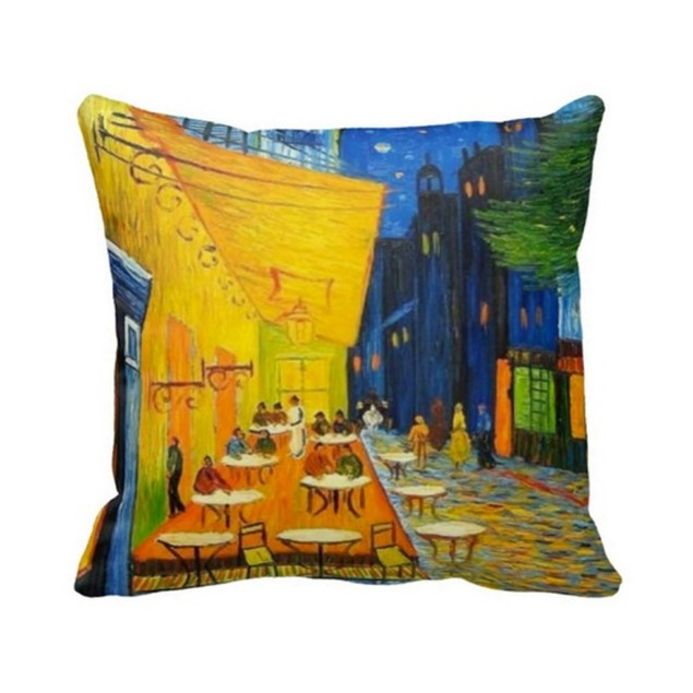 Van Gogh Pillows Cases (Starry Night & Cafe Terrace) Pack of 2