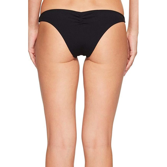 Hurley Women's Quick Dry Cheeky Bottom Black Swimsuit Bottoms SZ: M