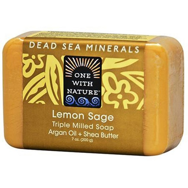 One with Nature Dead Sea Minerals Lemon Sage Soap Bar