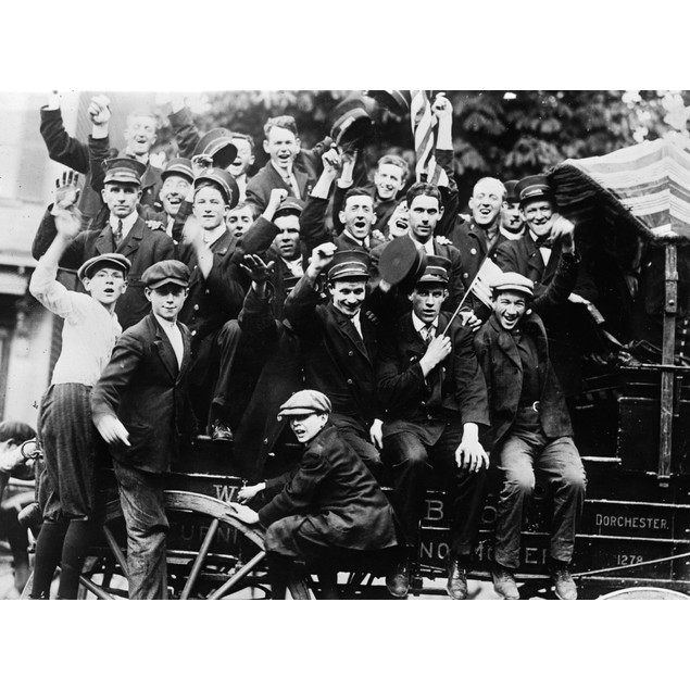 Boston: Strike, C1912. /Nconductors And Supporters During A Boston Elevated