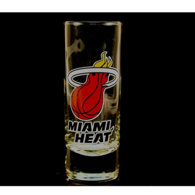 "Miami Heat NBA ""Hype"" Tall Shot Glass"