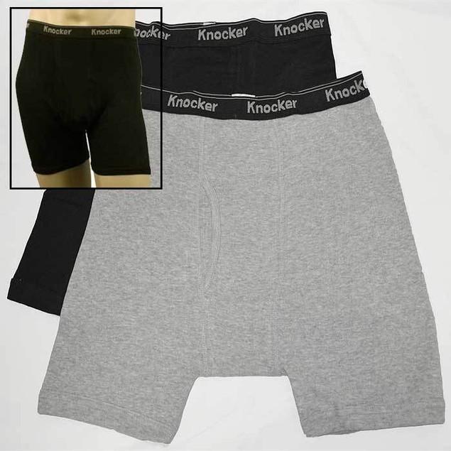 12-PACK: Knocker Men's 100% Cotton Boxer Briefs