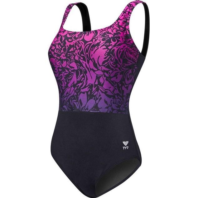 TYR Womens Juniper Aqua Controlfit Swimsuit SZ: 8