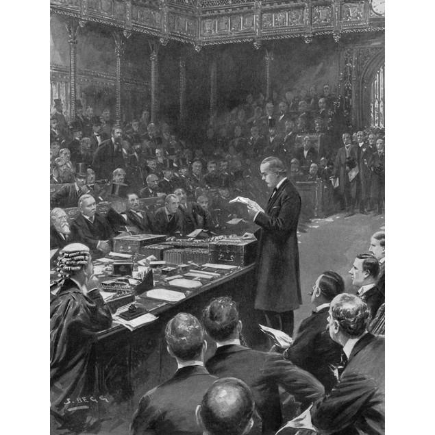 Second Boer War: Surrender. /Narthur James Balfour Reading The Surrender Of