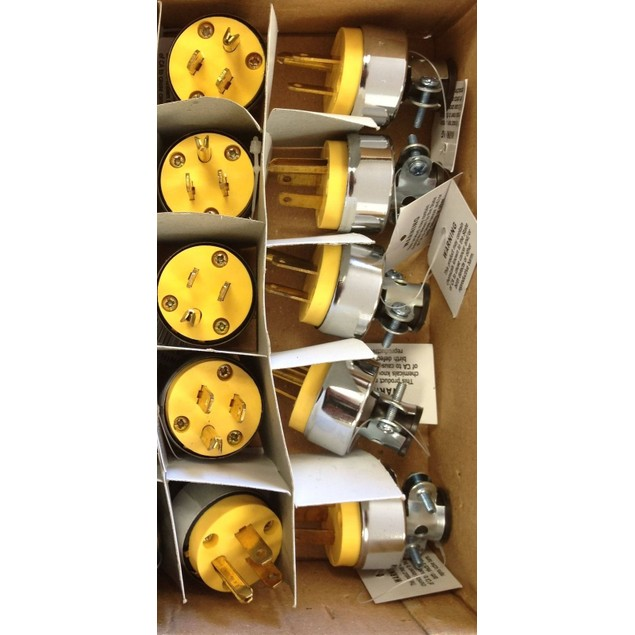 (10) Male Extension Cord Replacement Ends 15 Amp Electrical