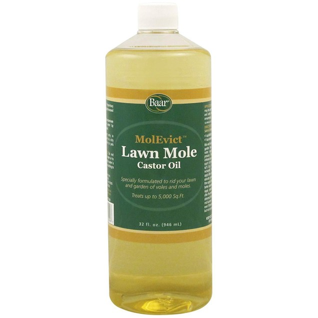 Baar Lawn Mole Castor Oil, MolEvict, For Moles and Voles, 32 Oz