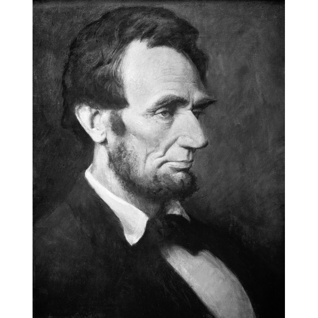 Abraham Lincoln /N(1809-1865). 16Th President Of The United States. Canvas,