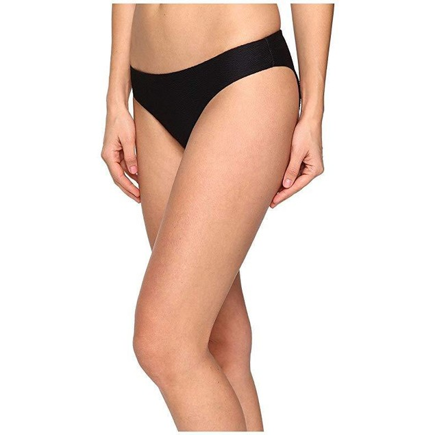 onia Women's Lily Textured Black Swimsuit Bottoms SZ M