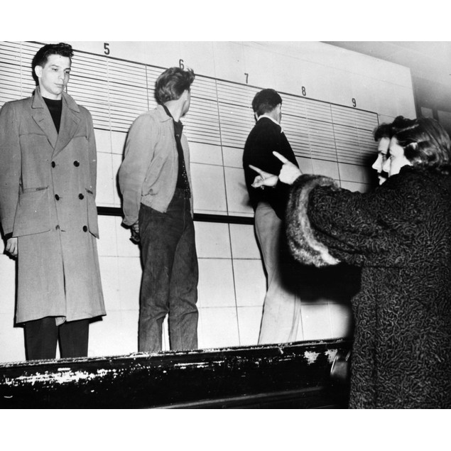 Police Lineup, 1953. /Na Chicago Woman Accuses A Teenager Of Killing Her Fa