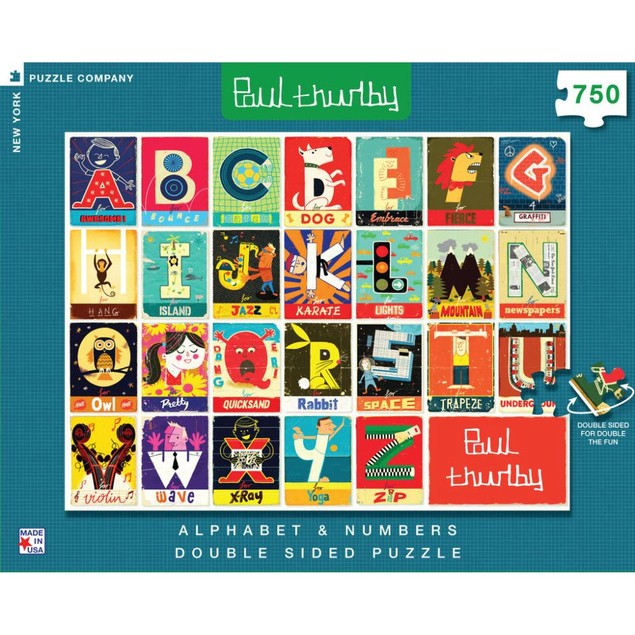 Alphabet and Numbers Double Sided 750 Piece Puzzle, 750 Piece Puzzles by Ne
