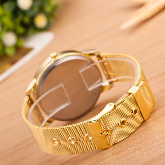 Women's Gold Tone Steel Quartz Wristwatch