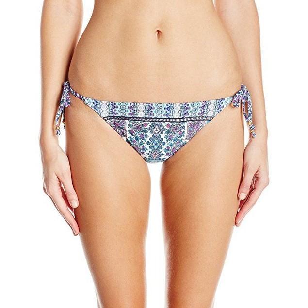 Nanette Lepore Women's Paros Paisley Vamp Bikini Bottom SZ M