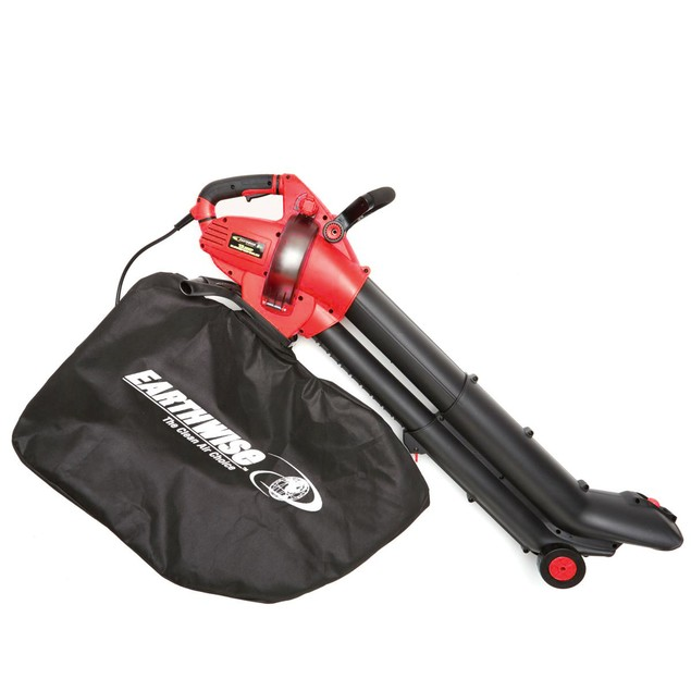 EARTHWISE 12-Amp Corded 3-in-1 Wheeled Blower, Vacuum and Mulcher