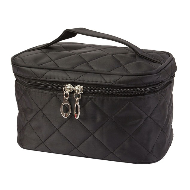 Square Case grain Of Pure Color Cosmetic Bag